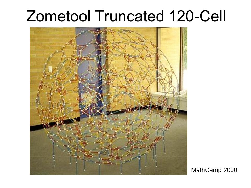 Zometool Truncated 120-Cell MathCamp 2000