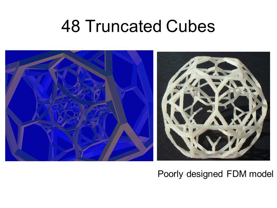48 Truncated Cubes Poorly designed FDM model