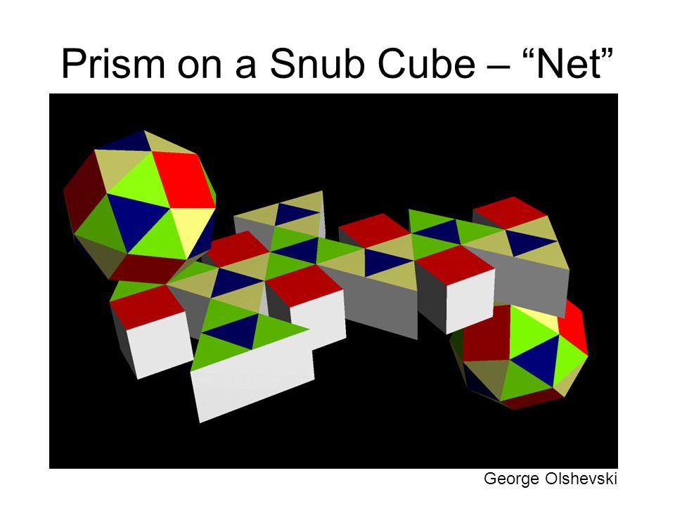 Prism on a Snub Cube – Net George Olshevski