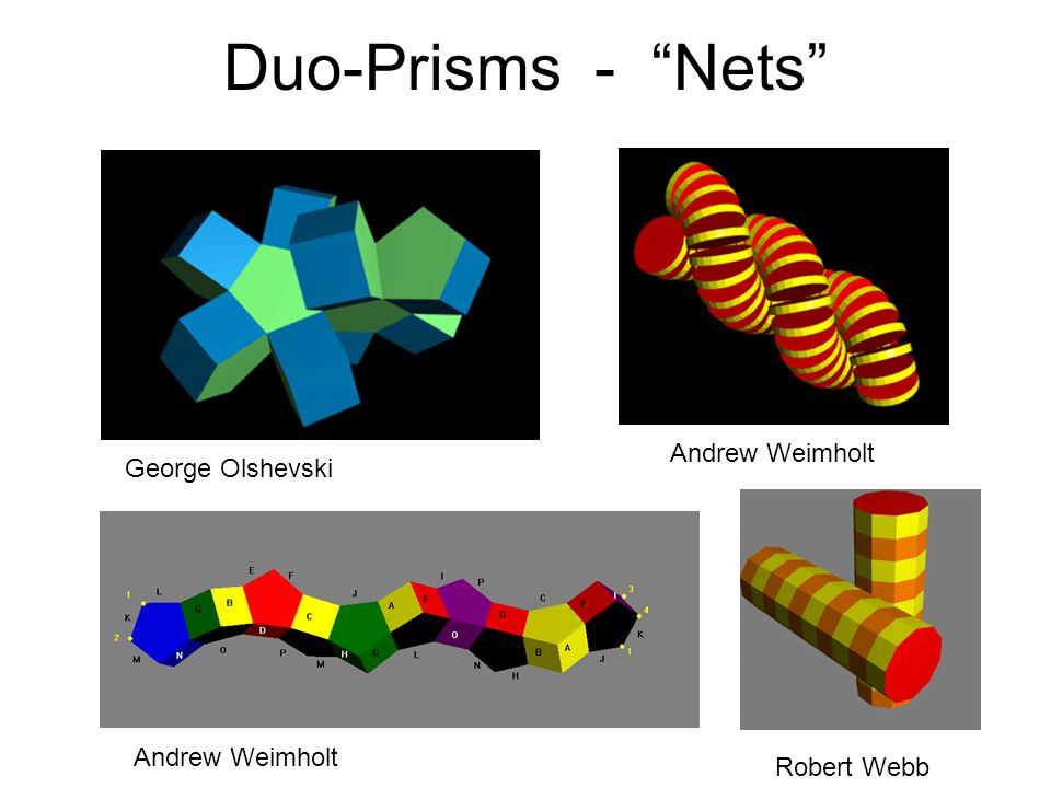 Duo-Prisms - Nets Robert Webb Andrew Weimholt George Olshevski