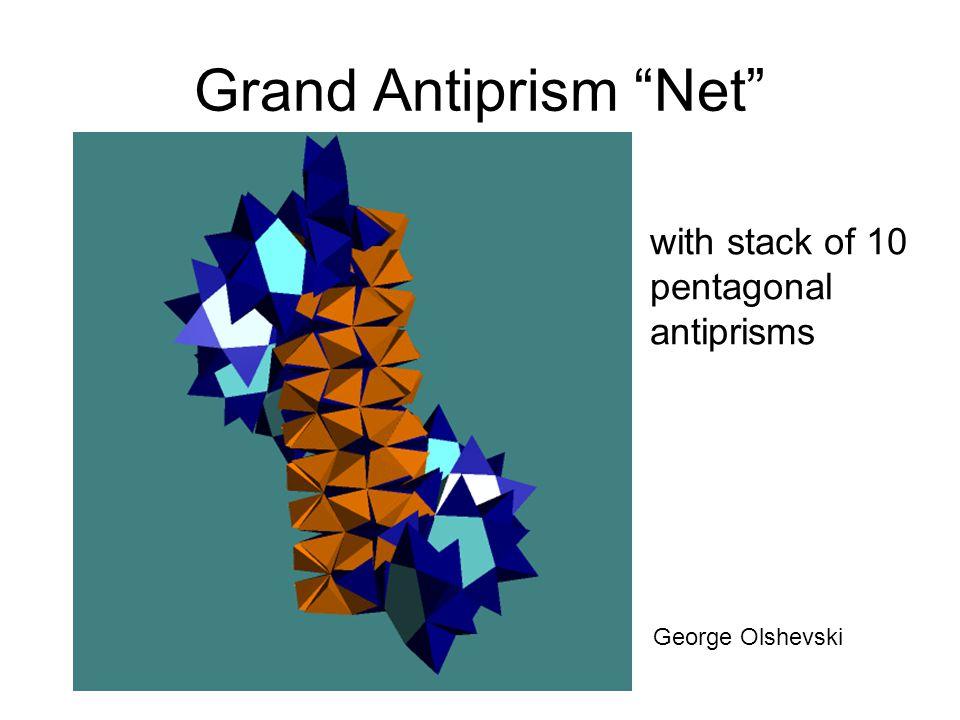 Grand Antiprism Net with stack of 10 pentagonal antiprisms George Olshevski