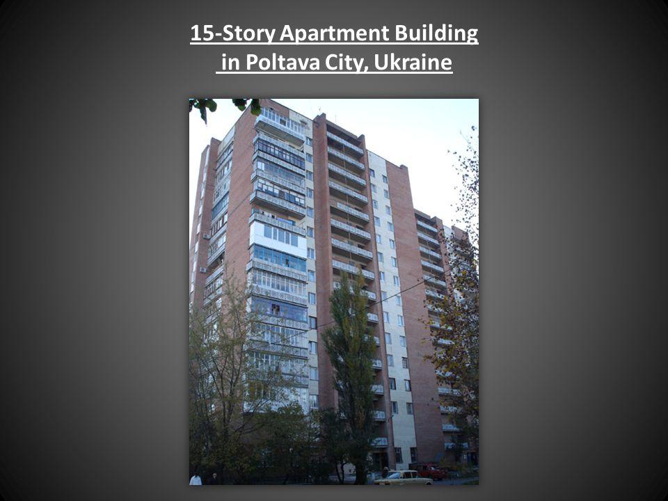 15-Story Apartment Building in Poltava City, Ukraine