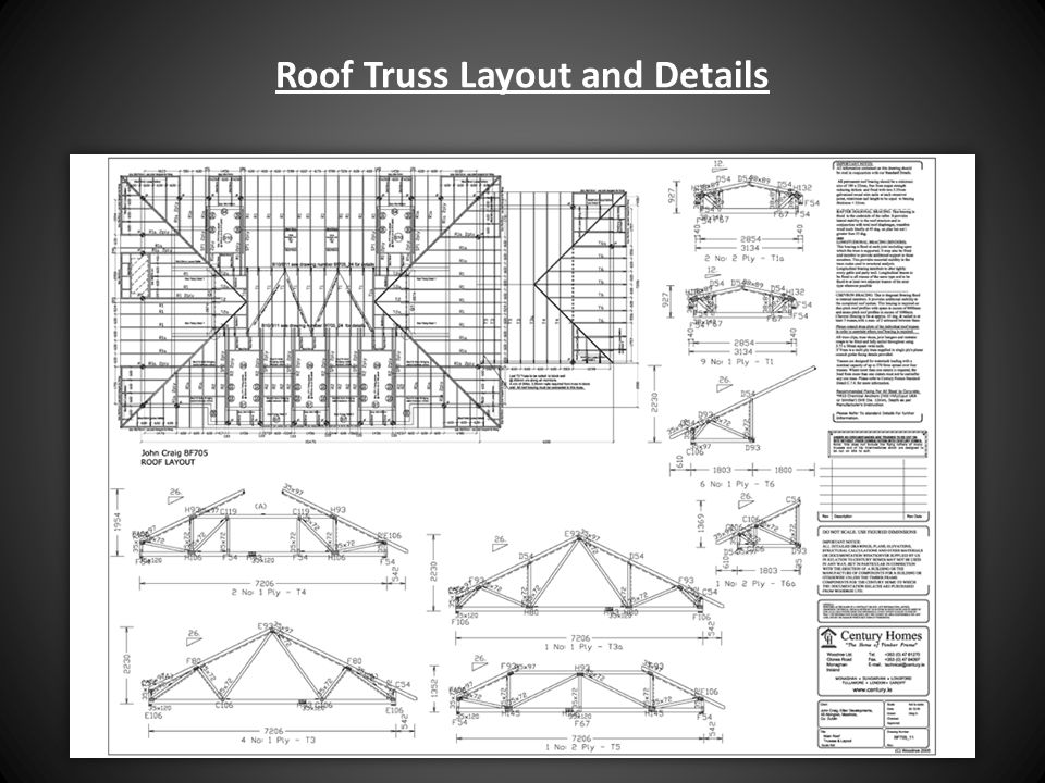 Roof Truss Layout and Details