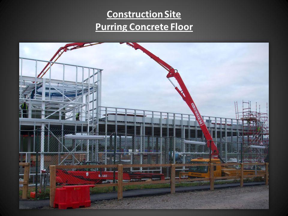 Construction Site Purring Concrete Floor