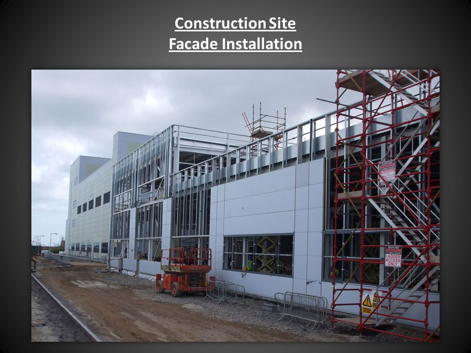 Construction Site Facade Installation