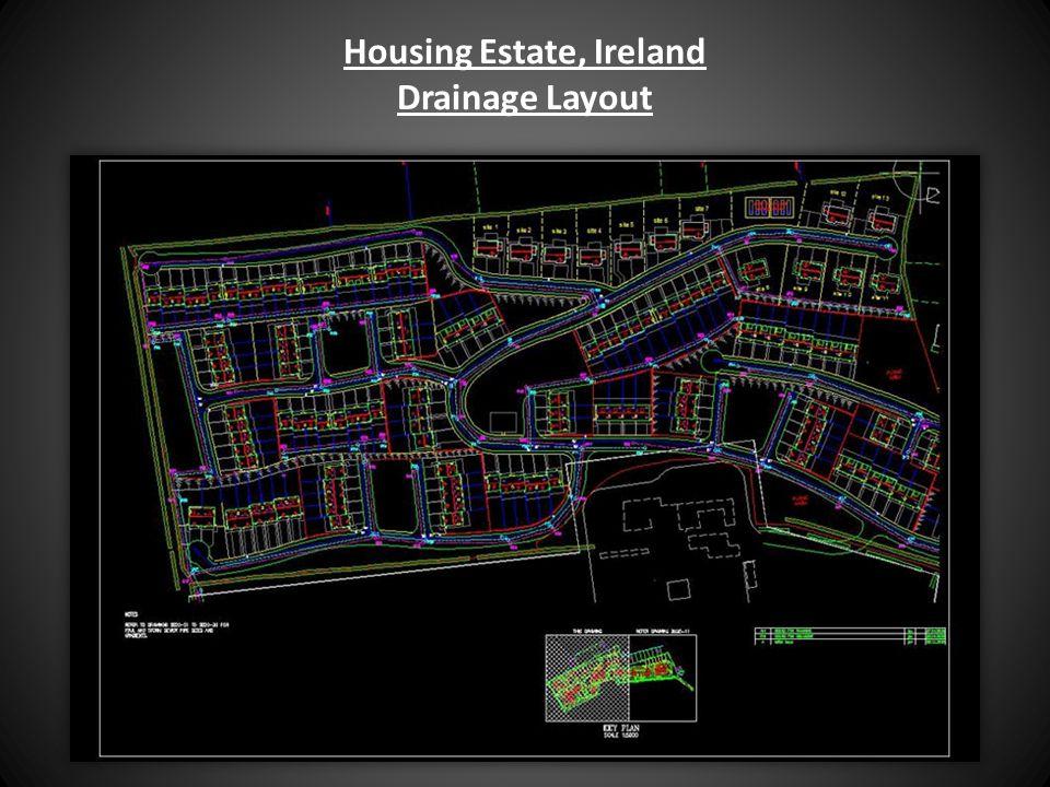 Housing Estate, Ireland Drainage Layout