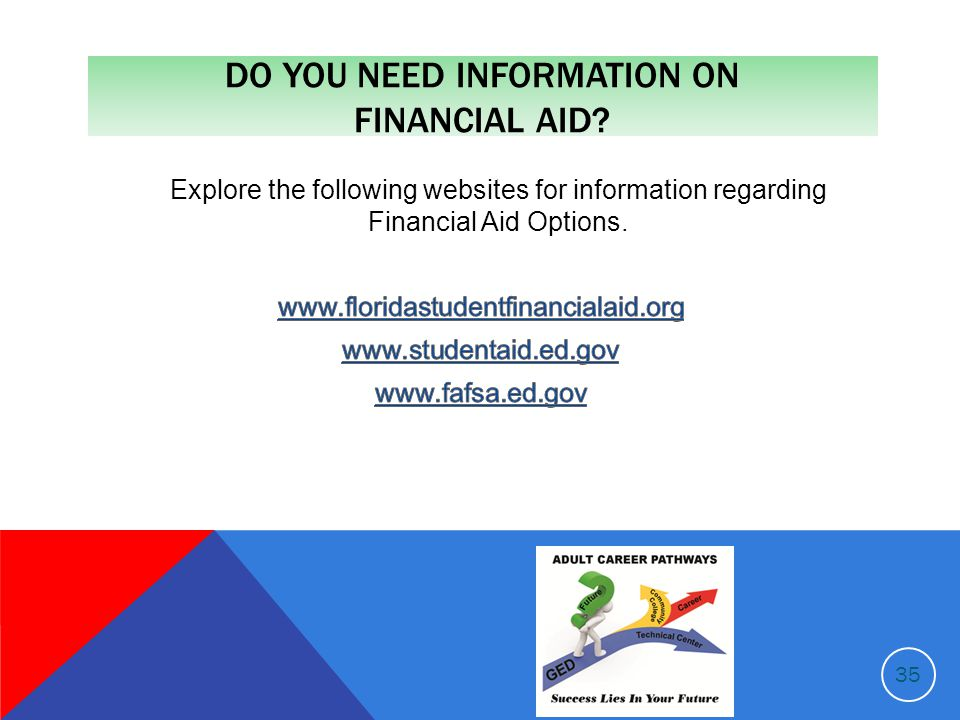 DO YOU NEED INFORMATION ON FINANCIAL AID 35