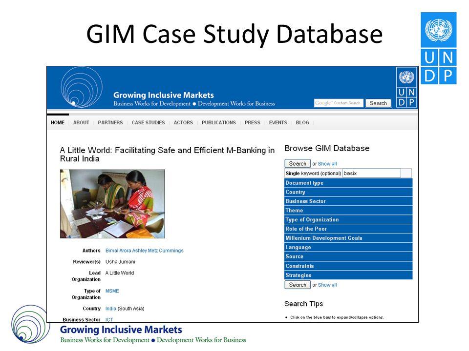 GIM Case Study Database