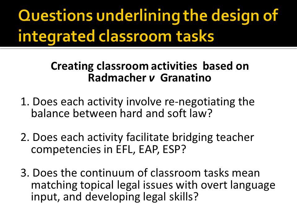 Creating classroom activities based on Radmacher v Granatino 1.