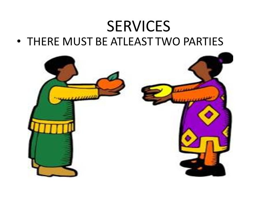 SERVICES THERE MUST BE ATLEAST TWO PARTIES