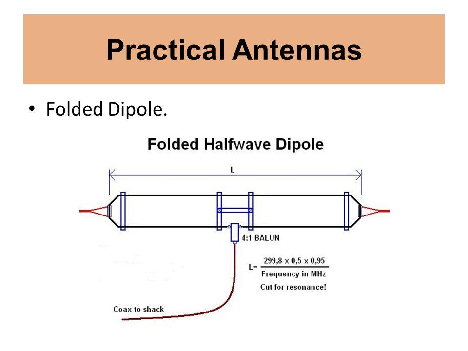 Practical Antennas Folded Dipole.