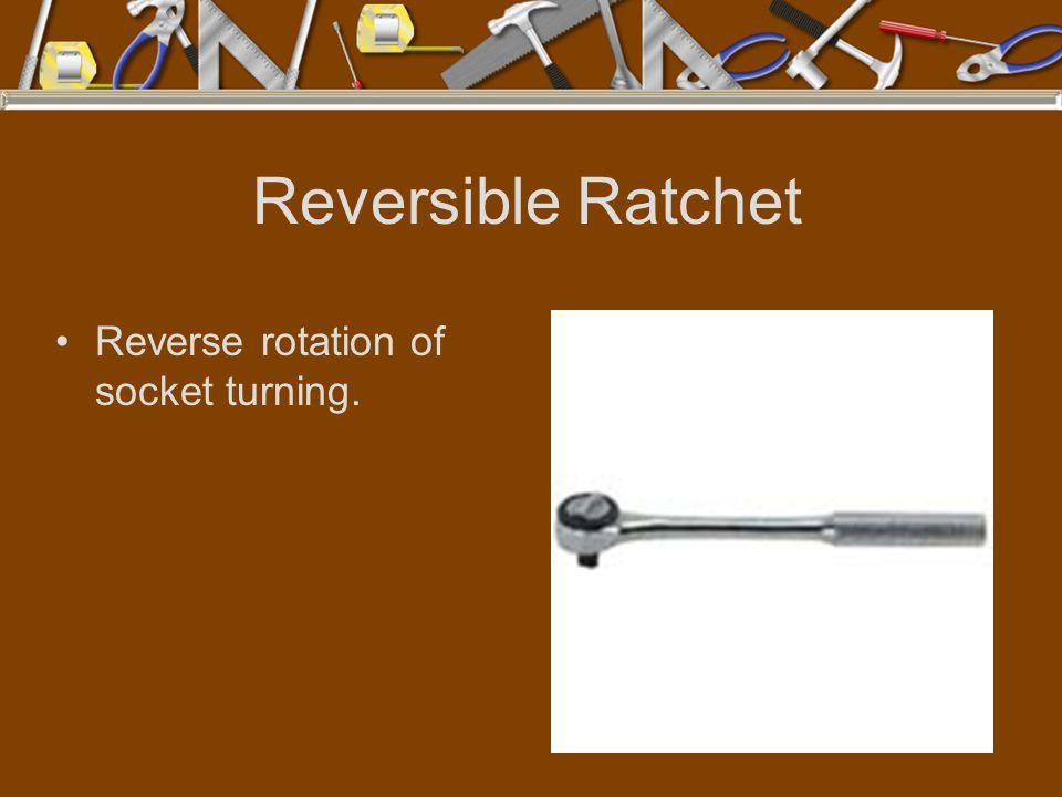 Reversible Ratchet Reverse rotation of socket turning.