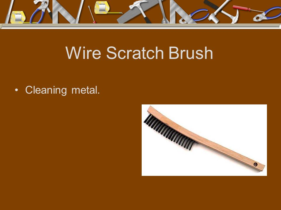 Wire Scratch Brush Cleaning metal.