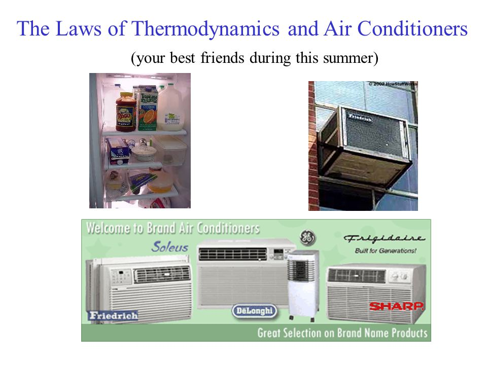 The Laws of Thermodynamics and Air Conditioners (your best friends during this summer)