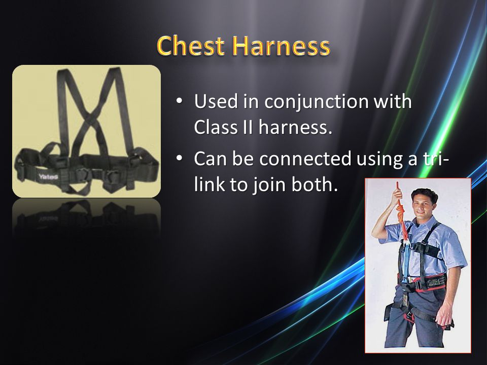Used in conjunction with Class II harness.Used in conjunction with Class II harness.