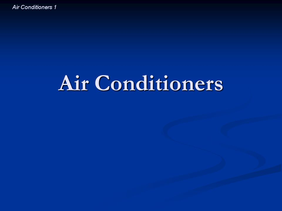 Air Conditioners 22 The Evaporator (Part 2) Working fluid evaporates in the evaporator Working fluid evaporates in the evaporator Fluid absorbs thermal energy while evaporating, Fluid absorbs thermal energy while evaporating, so it transforms into a cold gas so it transforms into a cold gas Heat flows from the hot room air to the cold gas Heat flows from the hot room air to the cold gas Working fluid leaves the evaporator Working fluid leaves the evaporator as a low density gas near room temperature as a low density gas near room temperature and carries away some of the rooms thermal energy and carries away some of the rooms thermal energy Heat has left the room.