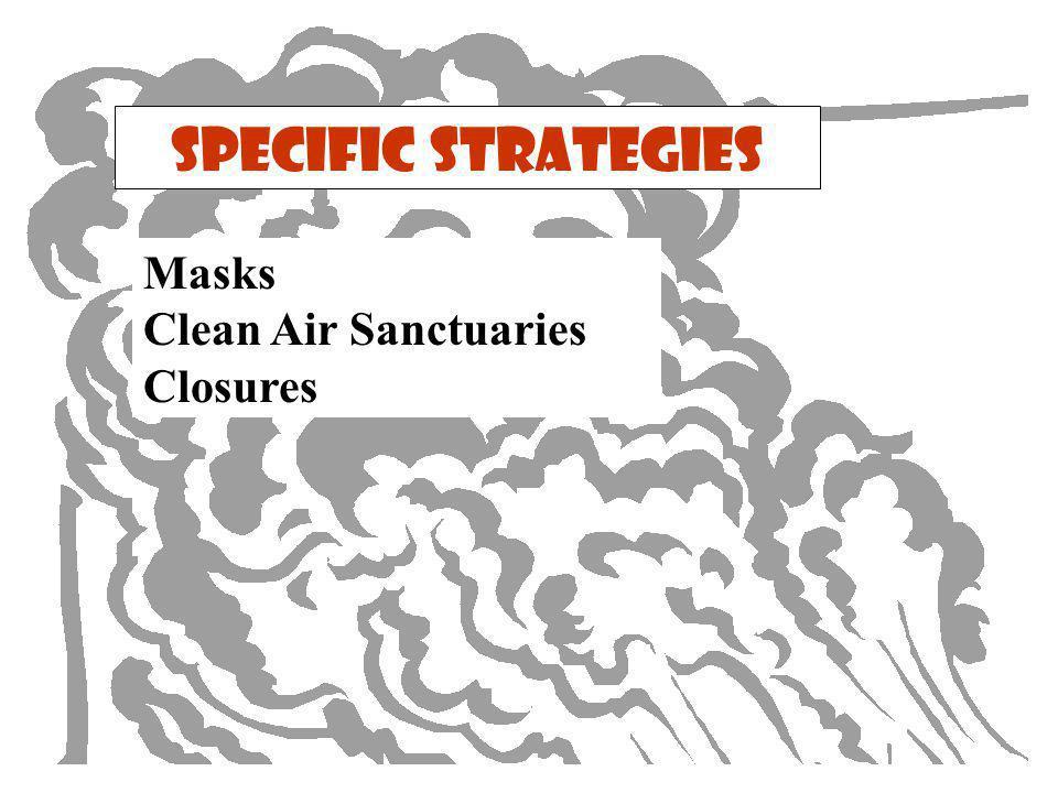 Specific Strategies Masks Clean Air Sanctuaries Closures