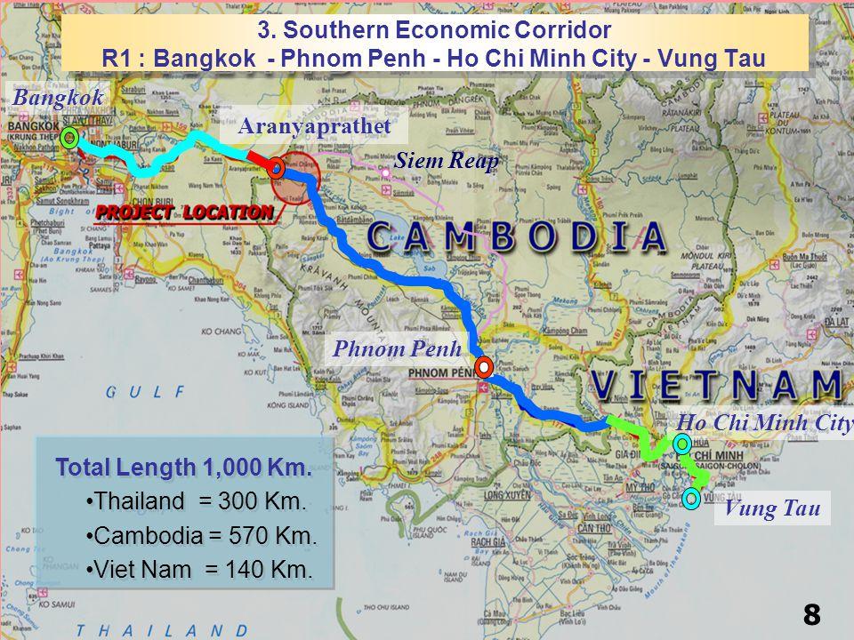Siem Reap Vung Tau Ho Chi Minh City Bangkok Aranyaprathet 3.