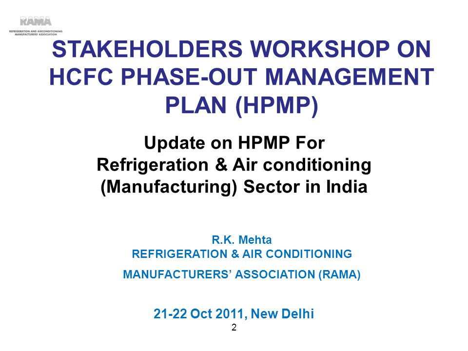 HPMP-INDIA DRAFT STRATEGY PROCEDURE ADOPTED -1 Core Committee consisting of 10 members with Mkt Leader from each subsector was constituted and 10 Meetings were held..