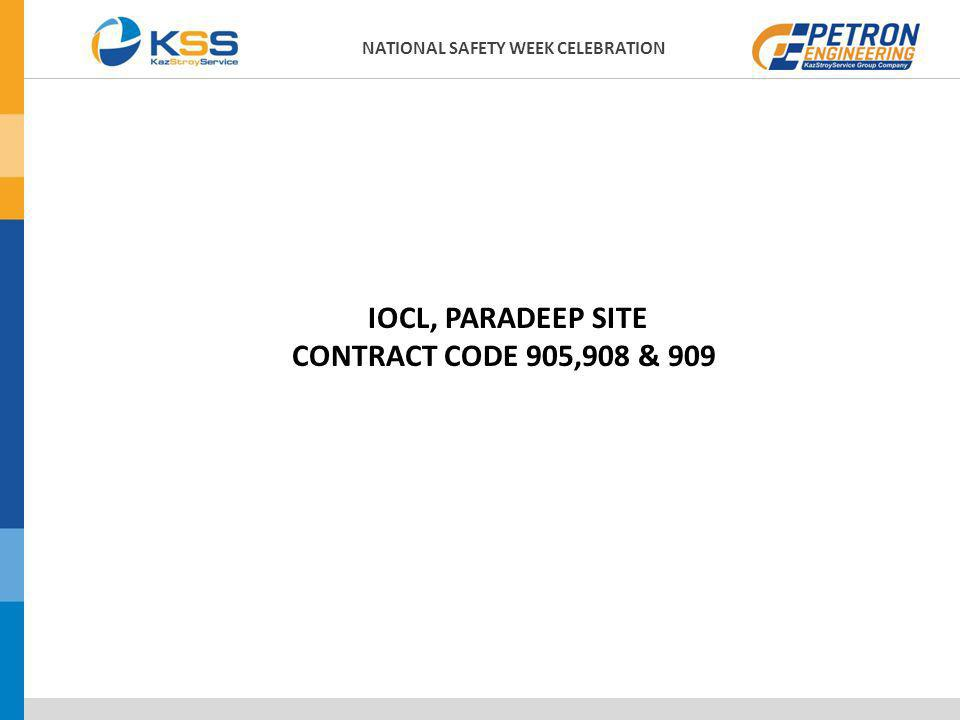 IOCL, PARADEEP SITE CONTRACT CODE 905,908 & 909 NATIONAL SAFETY WEEK CELEBRATION