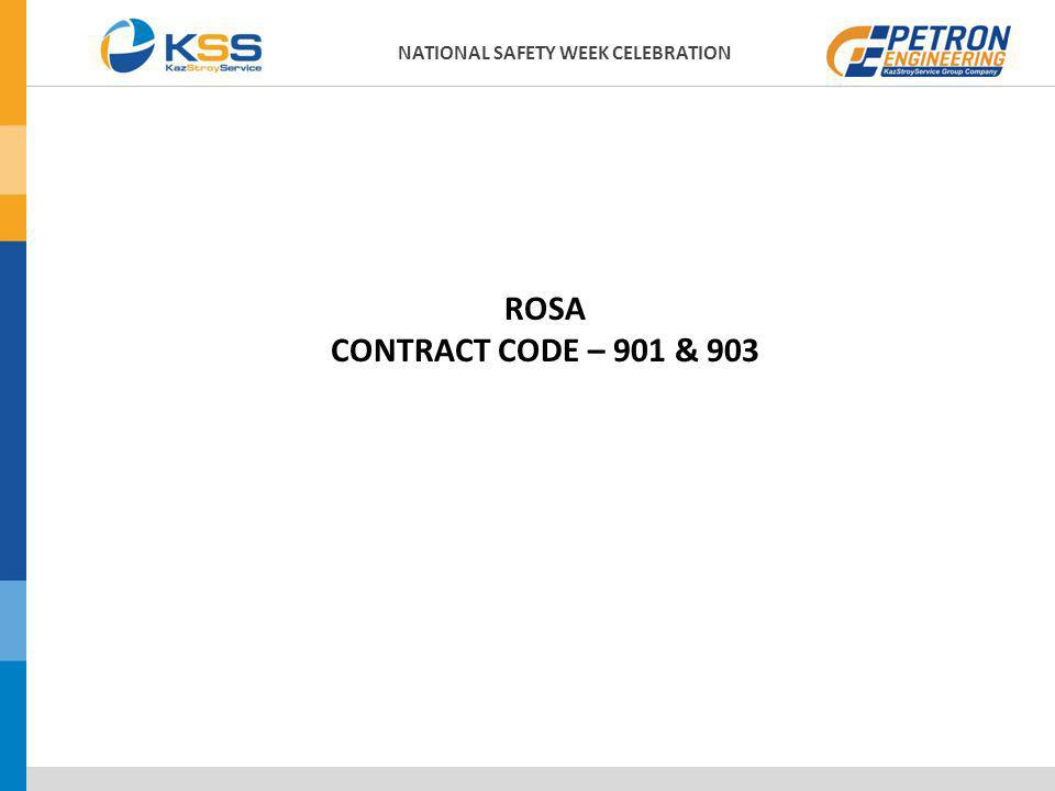 ROSA CONTRACT CODE – 901 & 903 NATIONAL SAFETY WEEK CELEBRATION