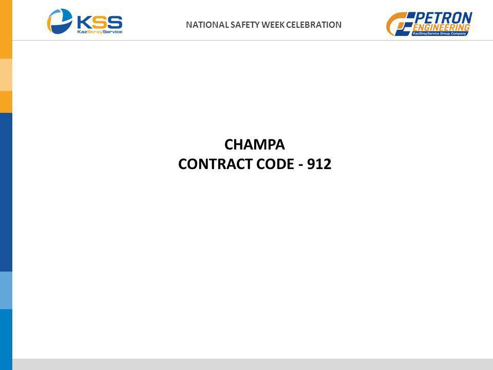 CHAMPA CONTRACT CODE - 912 NATIONAL SAFETY WEEK CELEBRATION