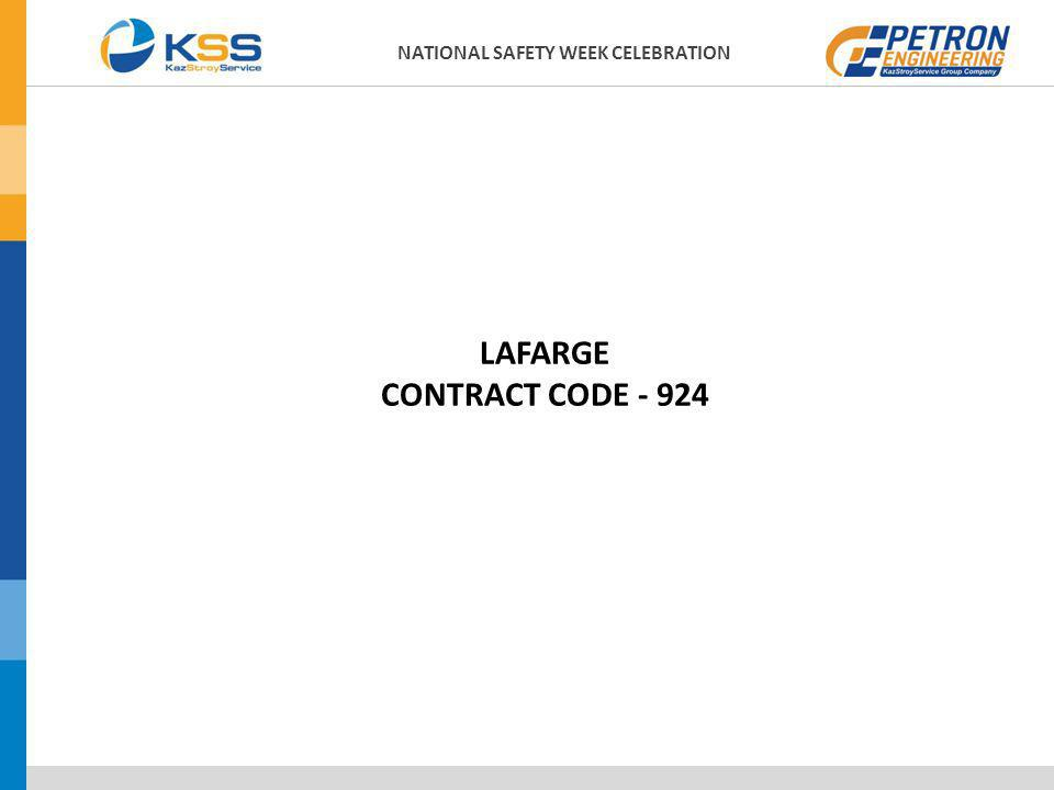 LAFARGE CONTRACT CODE - 924 NATIONAL SAFETY WEEK CELEBRATION