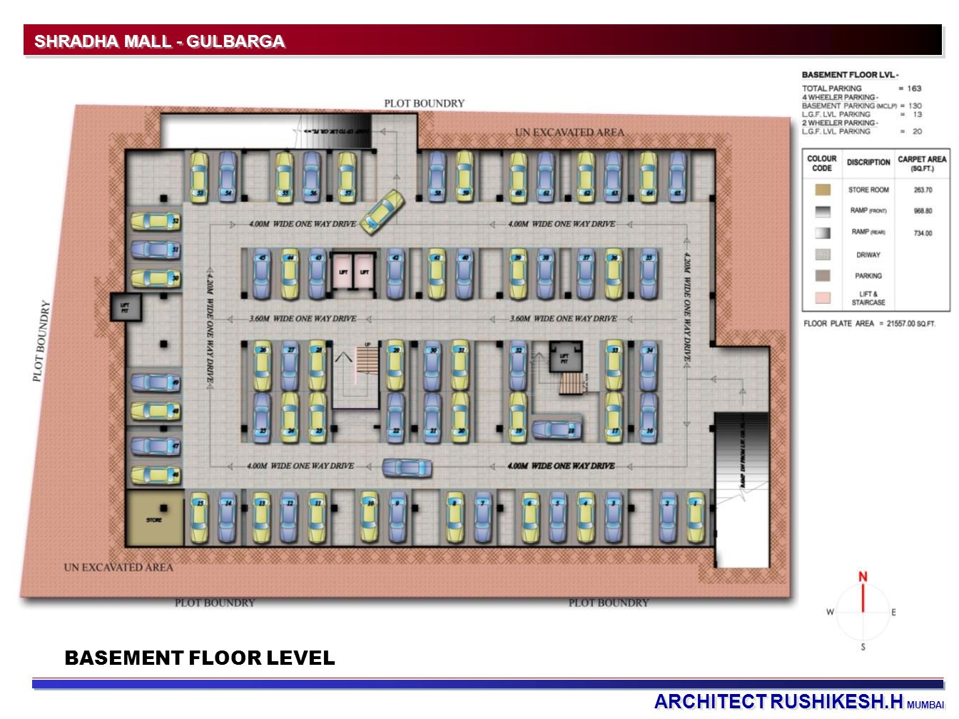 ARCHITECT RUSHIKESH.H MUMBAI SHRADHA MALL - GULBARGA BASEMENT FLOOR LEVEL