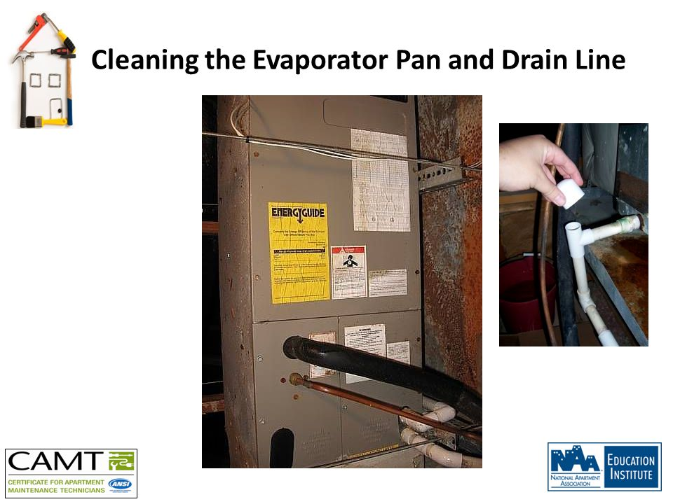 Cleaning the Evaporator Pan and Drain Line