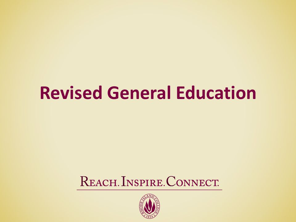 Revised General Education
