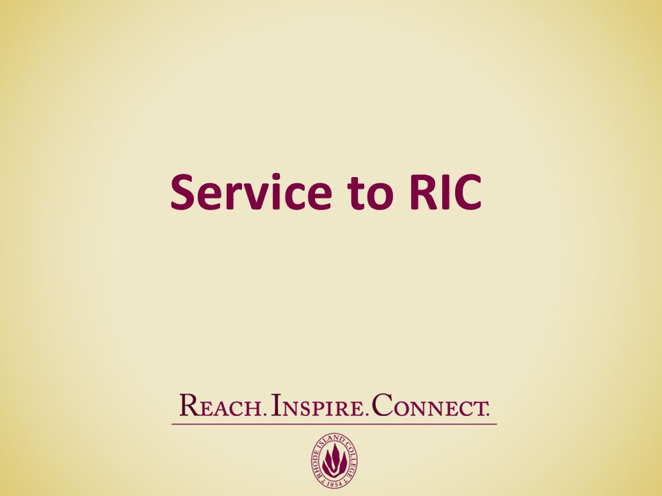 Service to RIC