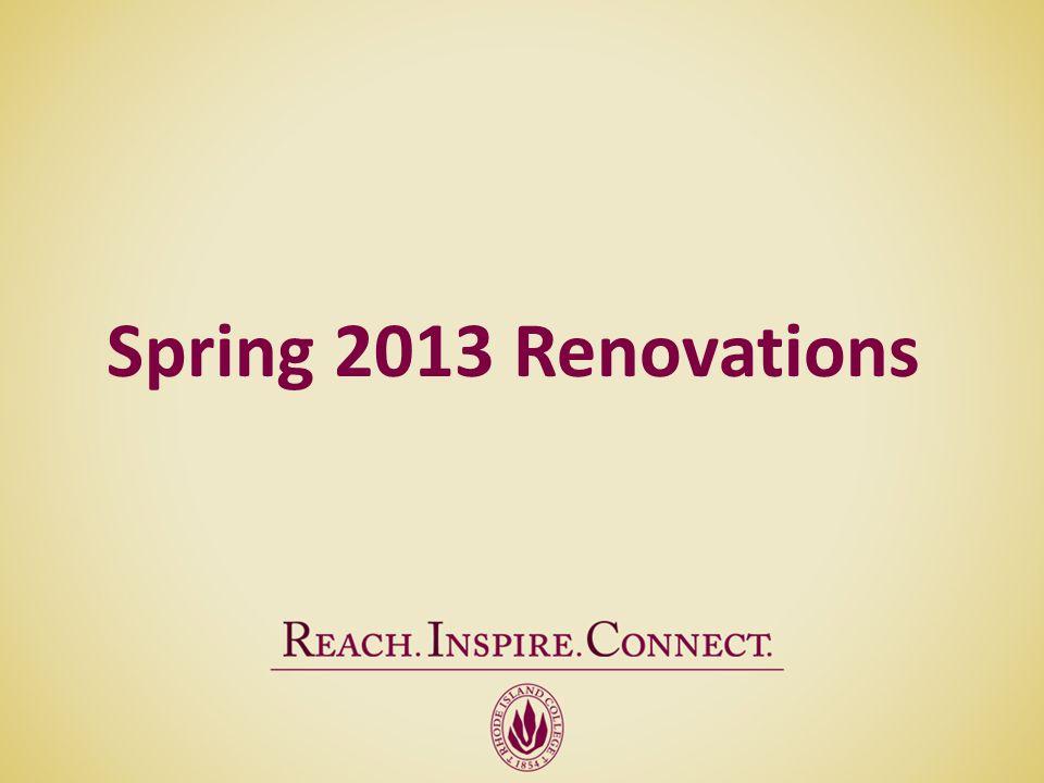 Spring 2013 Renovations