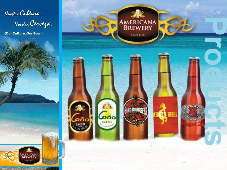 Products Nuestra Cultura. Nuestra Cerveza. Nuestra Cerveza. (Our Culture. Our Beer.)