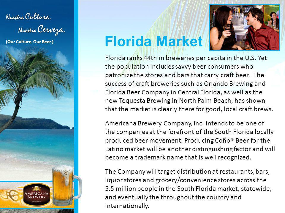 Florida ranks 44th in breweries per capita in the U.S.