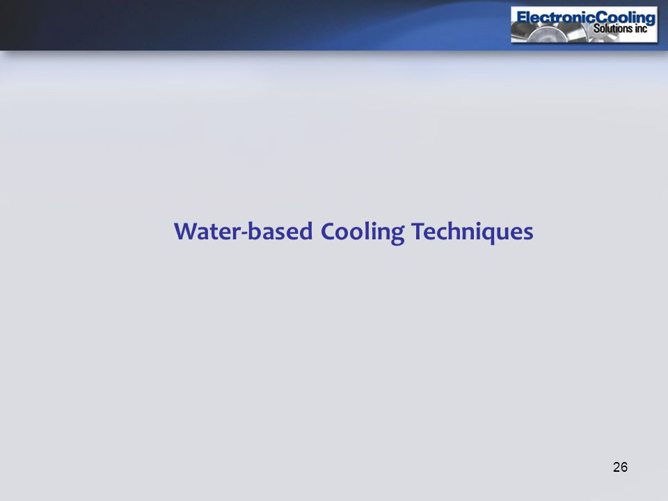 26 Water-based Cooling Techniques