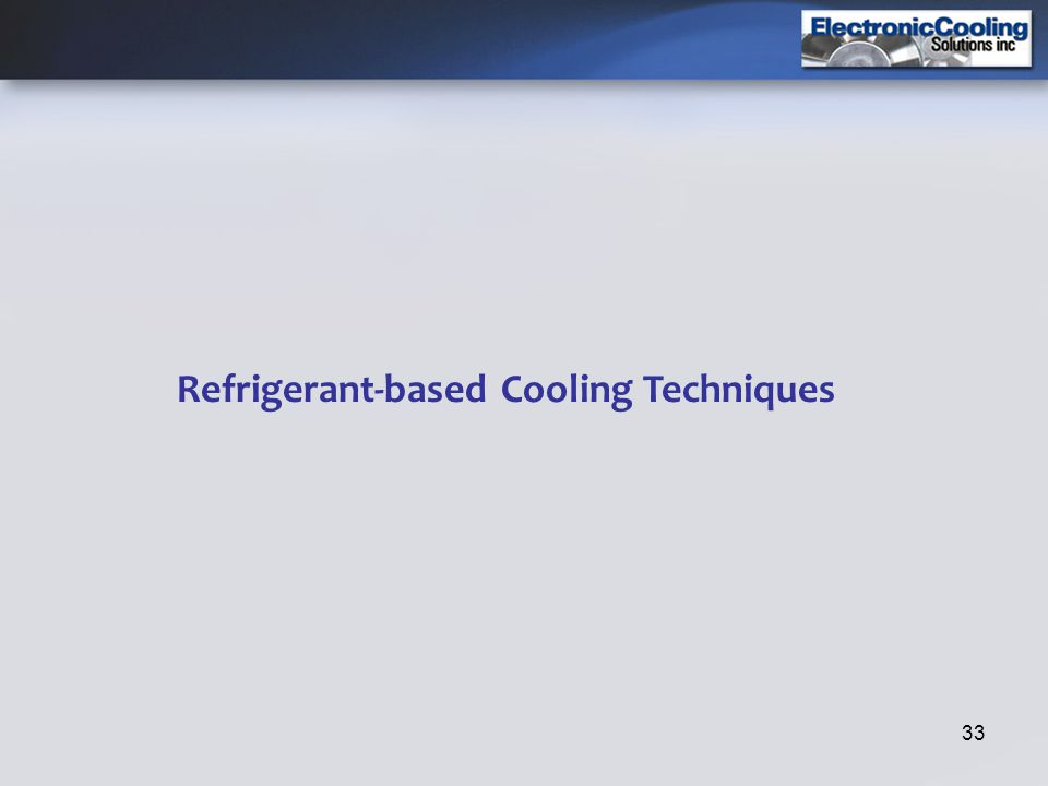 33 Refrigerant-based Cooling Techniques