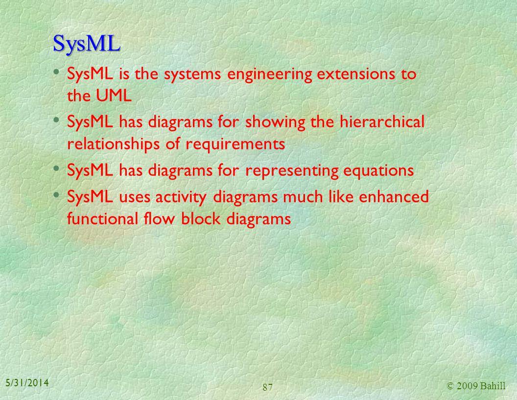 Activity diagram © 2009 Bahill 86 5/31/2014