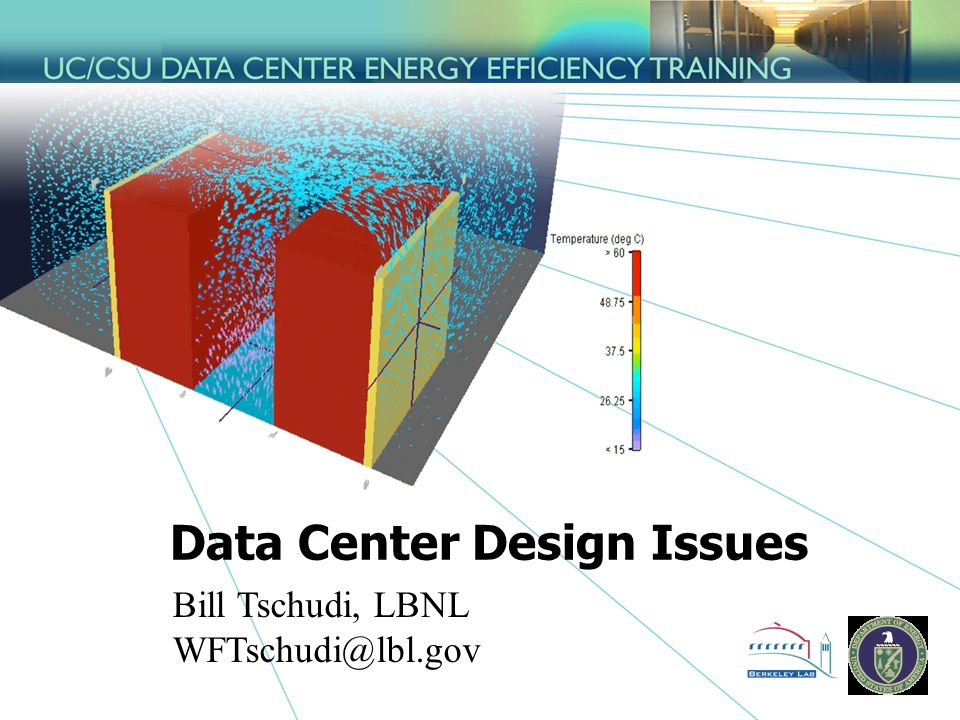 Data Center Design Issues Bill Tschudi, LBNL WFTschudi@lbl.gov