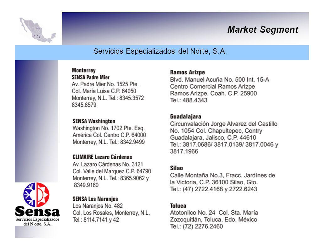 Market Segment Servicios Especializados del Norte, S.A.