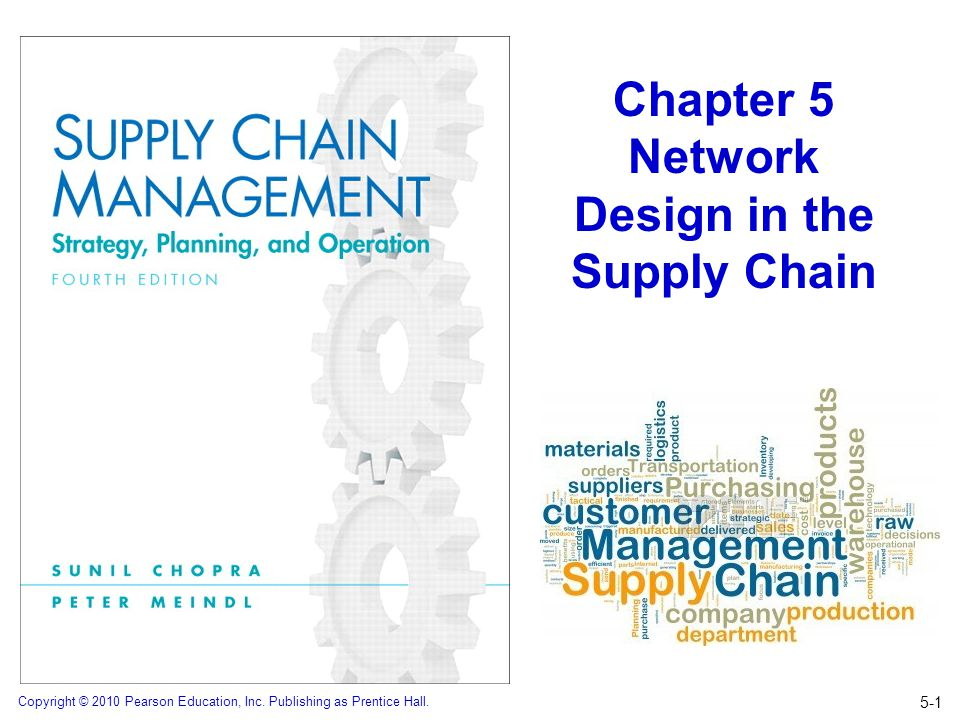 Copyright © 2010 Pearson Education, Inc. Publishing as Prentice Hall. Chapter 5 Network Design in the Supply Chain 5-1
