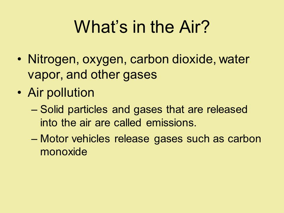 Whats in the Air.
