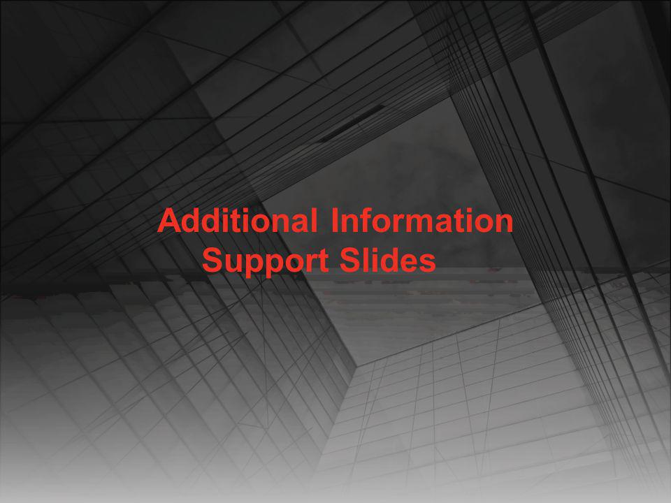 Additional Information Support Slides