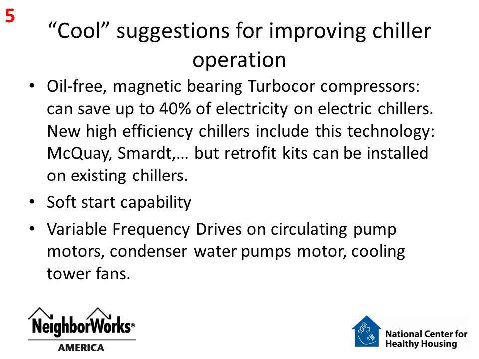 Cool suggestions for improving chiller operation Oil-free, magnetic bearing Turbocor compressors: can save up to 40% of electricity on electric chille