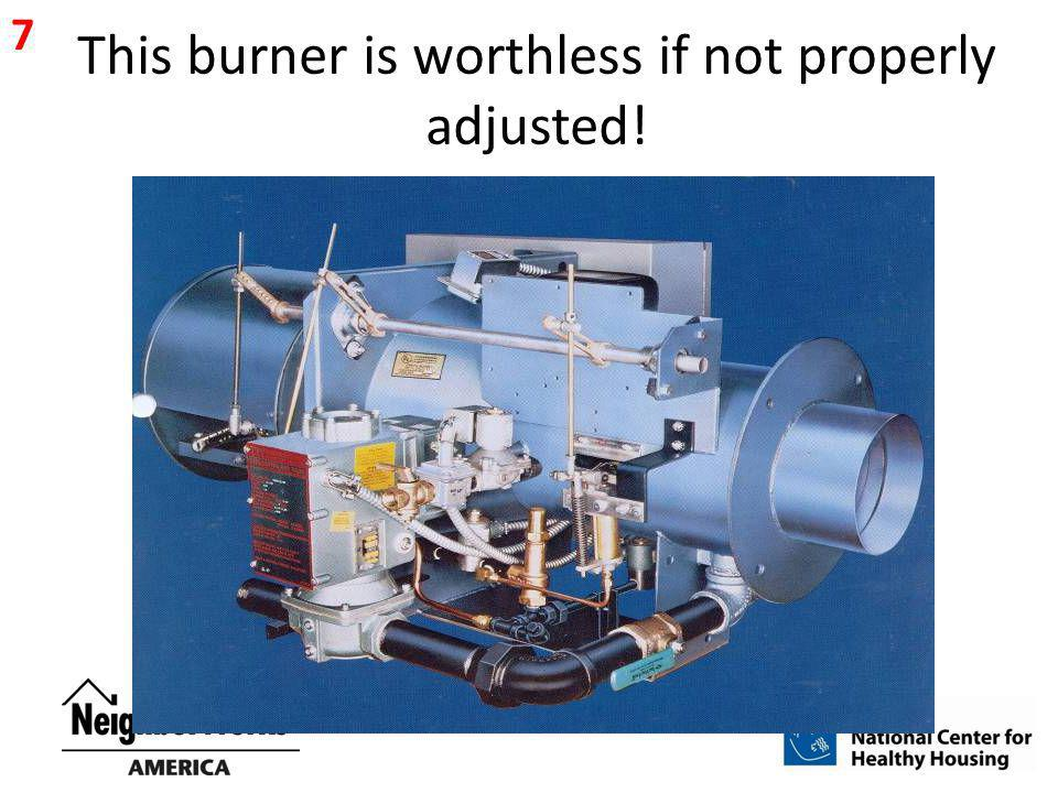 This burner is worthless if not properly adjusted! 7