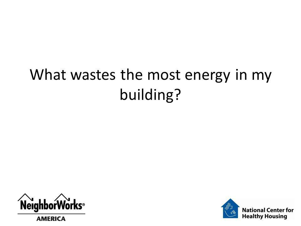 What wastes the most energy in my building?
