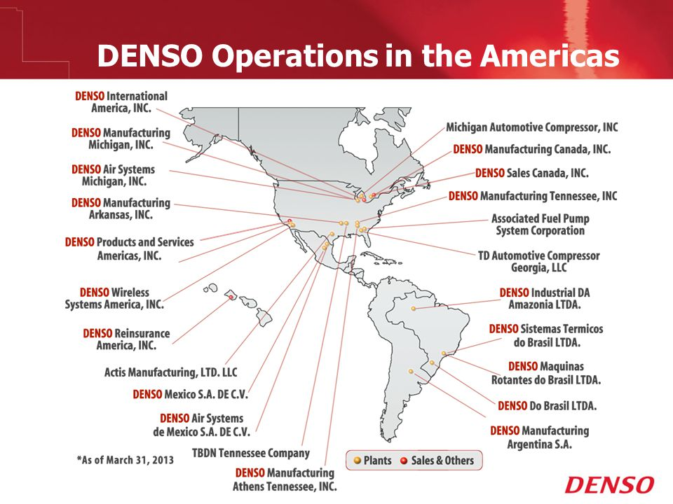 © 2009 DENSO Operations in the Americas