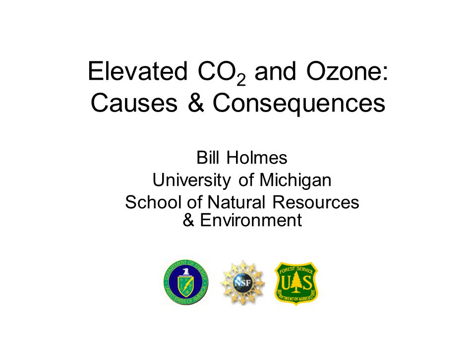 Presentation Outline Part I: Rising atmospheric CO 2 & tropospheric ozone –Sources & trends Part II: Impacts on plants & ecosystems –Research questions, approaches, and findings Part III: Activities –Calculate your carbon footprint –View ozone maps, action day alerts