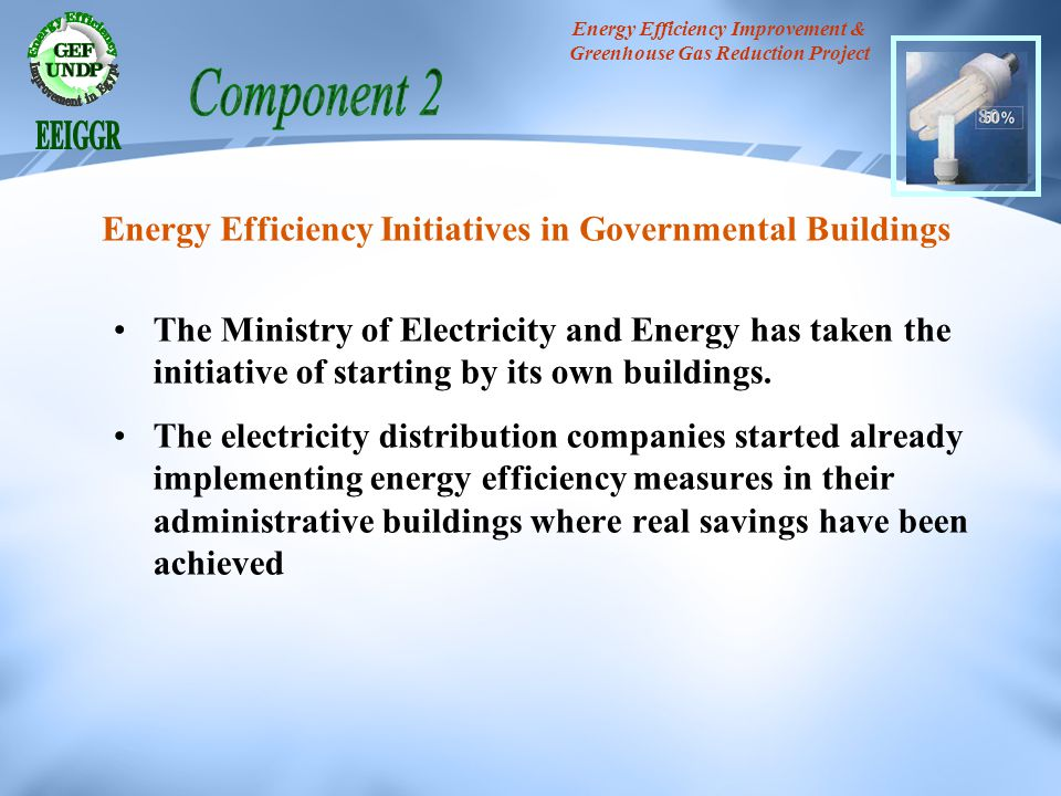 The Ministry of Electricity and Energy has taken the initiative of starting by its own buildings. The electricity distribution companies started alrea