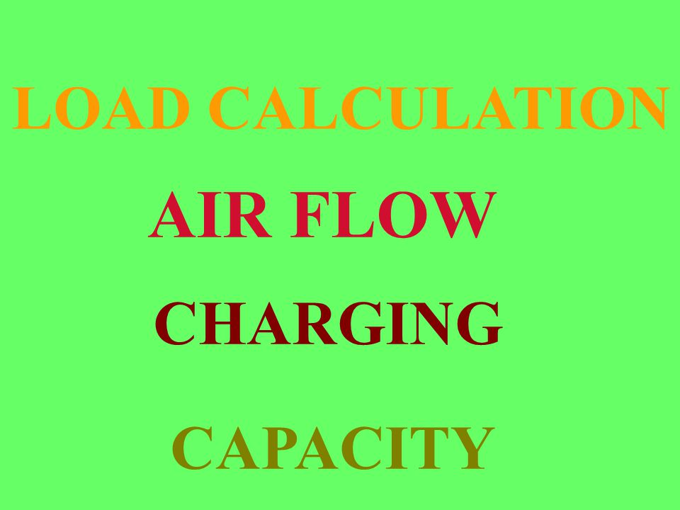 AIR FLOW CHARGING LOAD CALCULATION CAPACITY