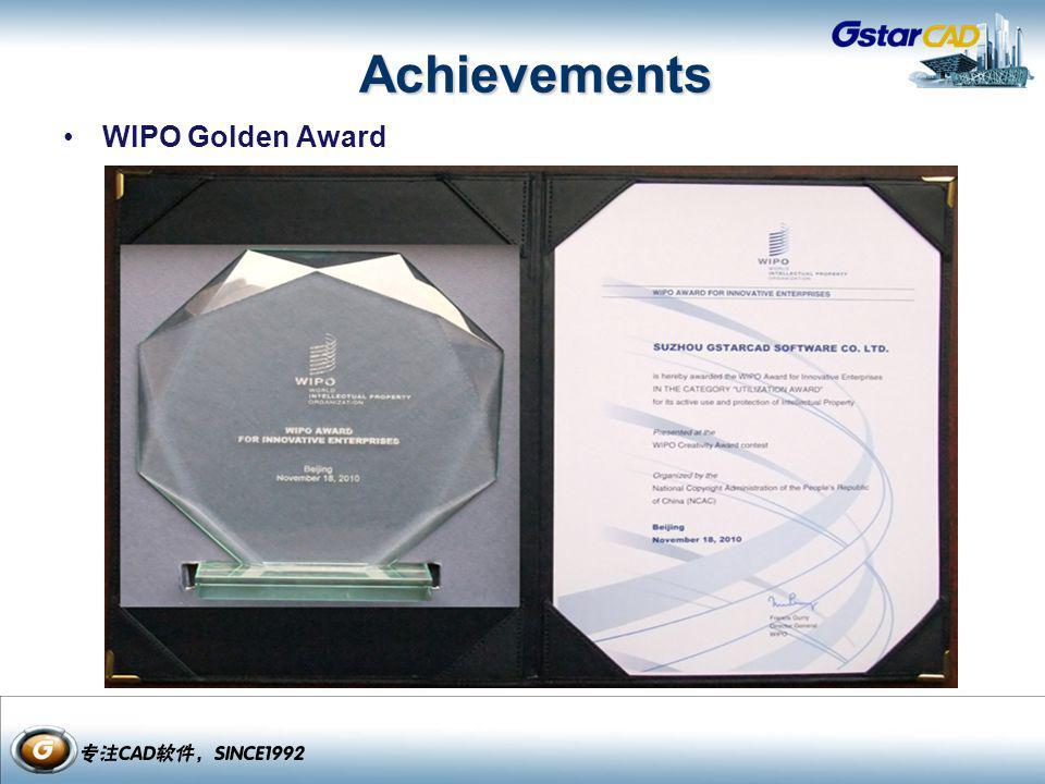 Achievements WIPO Golden Award
